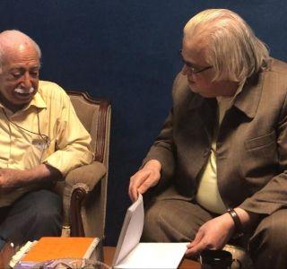 دیدار با استاد حسن مجیدزاده (ساوالان) در دفتر نشر شهریاران به مناسبت پیشنهاد نشر اثر جدید ایشان